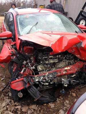 The Jones family of Gassville survived a crash Dec. 12 in which a drunk driver slammed head-on into their vehicle.