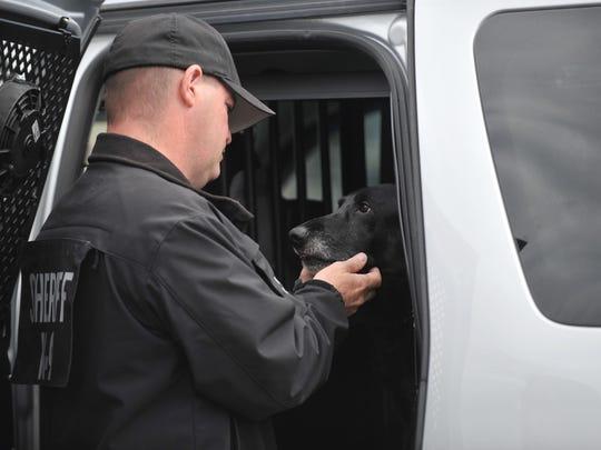 Cumberland County Sheriff K-9 officer Craig Johnson