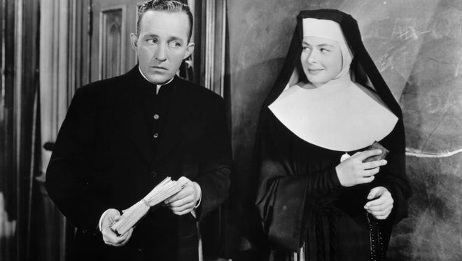 "Bing Crosby and Ingrid Bergman star in the 1945 classic ""The Bells of St. Mary's."""