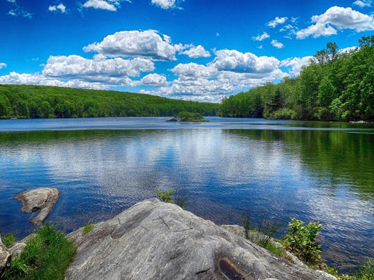 A view of Lake Askoti in Harriman State Park.