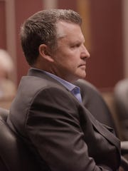 Shane A. Magurie of St. Paul, Minn, in court this morning.