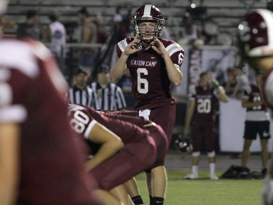 Station Camp QB Blaine Forte barks out signals at the
