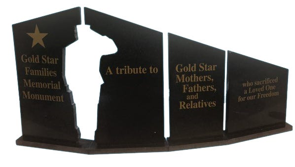 Real Stone has donated 45 replica Gold Star Monuments to the foundation.