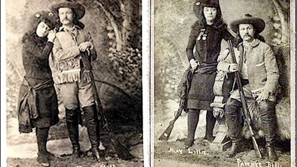 Pawnee Bill and his wife May Lillie (Swords Bro's Photos, York, PA; from Ancestry.com)