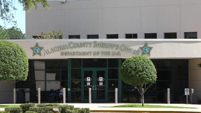 The Alachua County Jail, seen in this file photo from late April.