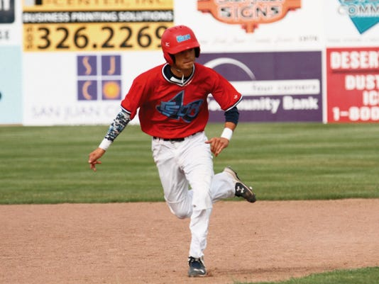 Clubsox's Phil Archuleta (2) steals third Monday during a game against Halo at Ricketts Park in Farmington.