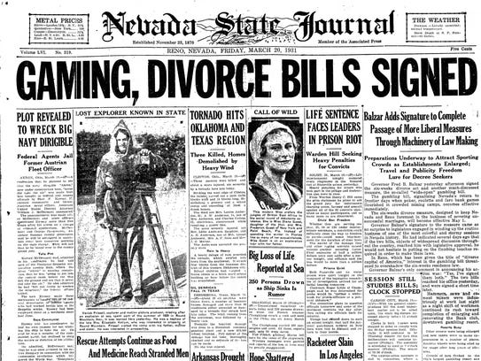 Image result for gambling legalized in nevada newspaper articles