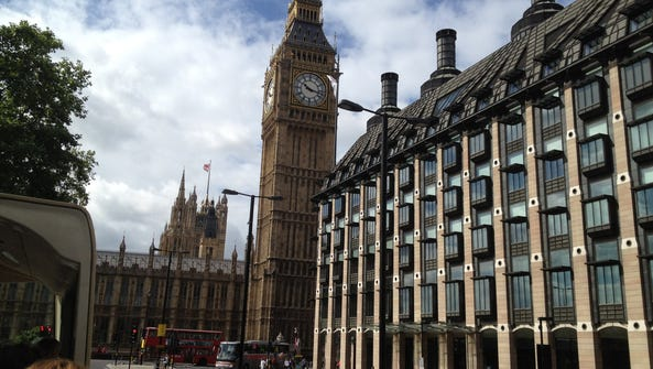 Big Ben and the Palace of Westminster.