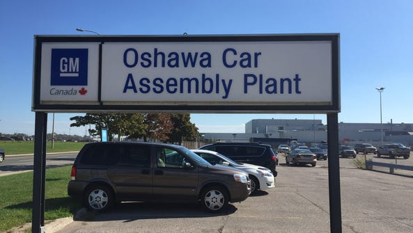GM's Oshawa Assembly Plant in Ontario, Can.