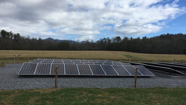 A new solar array at Cades Cove will reduce greenhouse