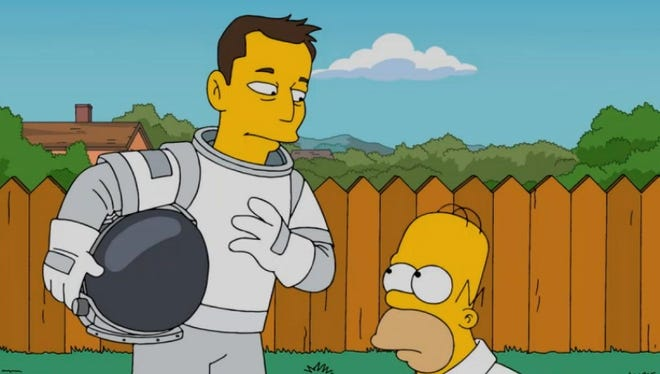 Inventor and investor Elon Musk on The Simpson.
