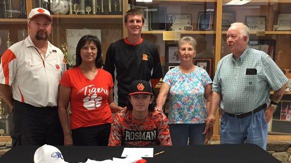 Rosman senior Tyler Petit has signed to play baseball for Brevard College.