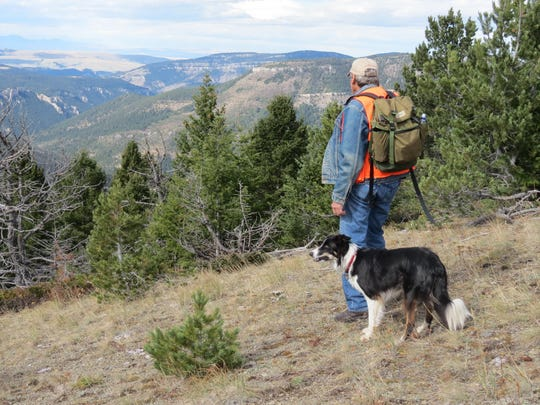 Dave Wilsey hikes in the Deep Creek Roadless Area in the North Fork drainage looking toward the Smith River Canyon.