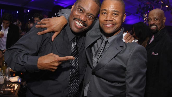 Singer Cuba Gooding Sr., left, and his son, Oscar-winning actor Cuba Gooding Jr. in 2007.