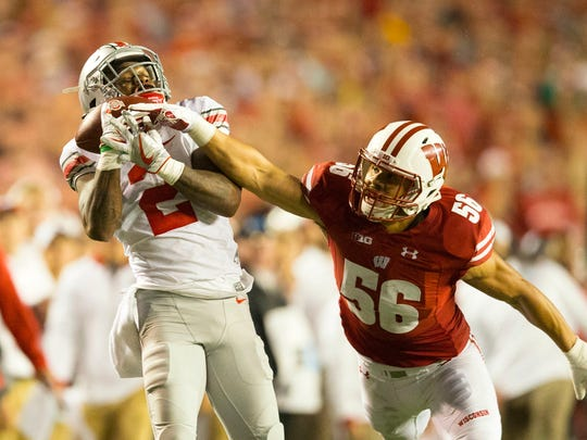 Ohio State's Dontre Wilson makes a 43-yard catch to