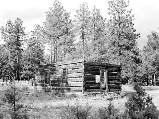 Strawberry Schoolhouse, photograph by Josef Muench prior to restoration. Credit: Northern Arizona University/Cline Library.