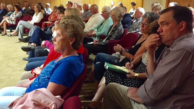 Glacier County residents pack the courtroom Wednesday for the supreme court hearing.