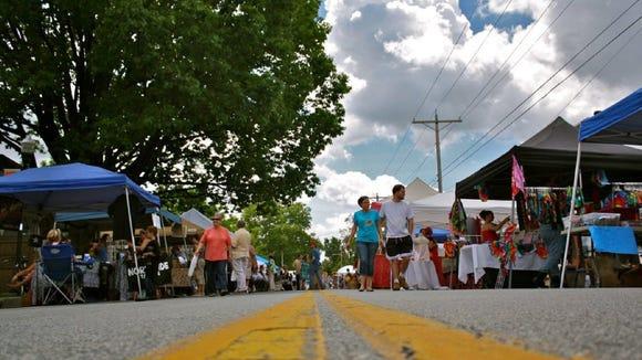 The Bellefonte Arts Festival runs all day Saturday.