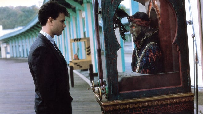 DO NOT USE UNLESS WE PURCHASE AGAIN - THIS WAS A ONE TIME USE - Tom Hanks returns to the Zoltar fortune teller machine during the movie 'Big.' If the scenery looks familiar, it's because this portion of the 1988 film was filmed at Playland in Rye, New York.