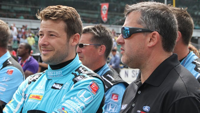 As usual, Marco Andretti was animated on the radio during Sunday's Indianapolis 500.