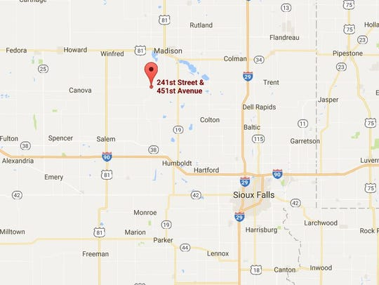 Location of command post south of Madison.