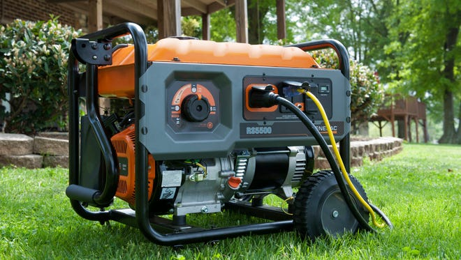 This undated photo provided by Generac shows a portable generator available for homeowners. Portables are powered by gasoline and need to be manually started. Although built-ins are more expensive and require professional installation, they turn on automatically in power outages.