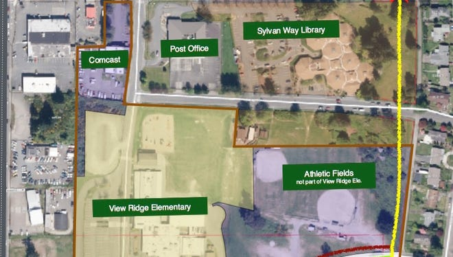 A proposed 2.5-mile bike and pedestrian path through East Bremerton could include trail sections on school and library properties.