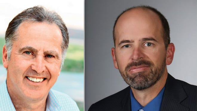 Mark D'Antonio, left, and James Dickens, Democratic race for 3rd Judicial District Attorney in the June 2015 primary.