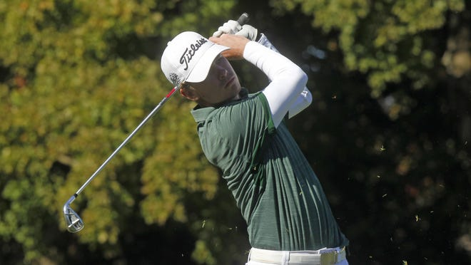 Central Catholic's Kyle Freudeman, seen here during the 2019 Division III boys state golf tournament, finished second at the Northern Ohio PGA Junior Golf Sectional Championship at Portage Country Club on Tuesday.