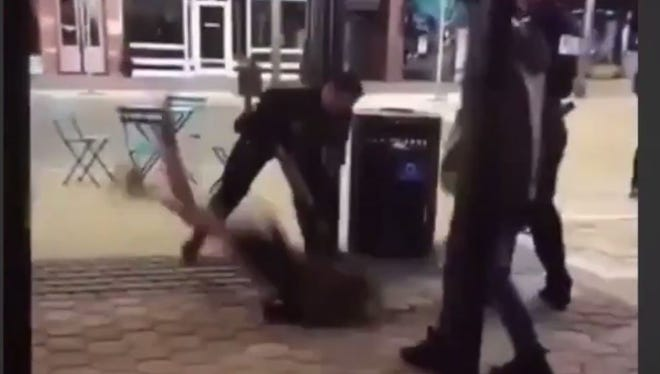 The video of Michaella Surat's arrest in Old Town garnered international attention because the arresting officer threw her to the ground.