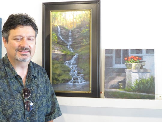 Artist Larry DeGraaf, retired from Hallmark, is a painter