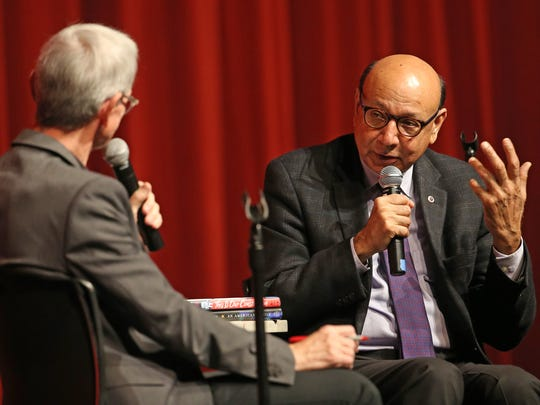 Khizr Khan responds to questions from Ed Montini at