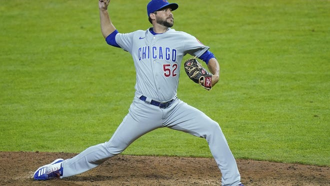 Chicago Cubs relief pitcher Ryan Tepera was 0-1 with a 3.92 ERA during the virus-shortened season.