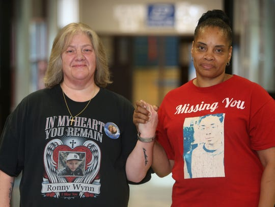 From left, Brenda Taddeo-Anderson and Cathis Johnson