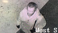 Law enforcement is looking for this man who is believed to have stolen expensive equipment used by first responders from the Hat Creek Volunteer Fire Station early Friday morning.