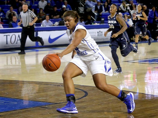 MTSU sophomore Olivia Jones leads the Lady Raiders in points, rebounds, minutes, steals and 3-pointers.