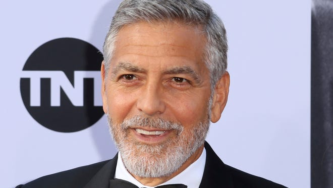 In this Thursday, June 7, 2018, file photo, George Clooney arrives at the 46th AFI Life Achievement Award Honoring himself at the Dolby Theatre in Los Angeles. Italian media say actor George Clooney has been hospitalized after he was involved in an accident while riding a motorcycle in Sardinia it was reported on Tuesday, July 10, 2018.