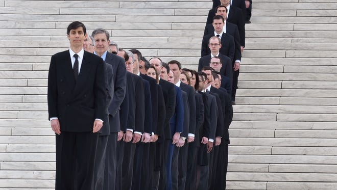 Law clerks at the Supreme Court on Feb. 19, 2016.