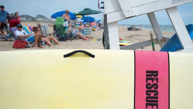 A lifeguard stand.