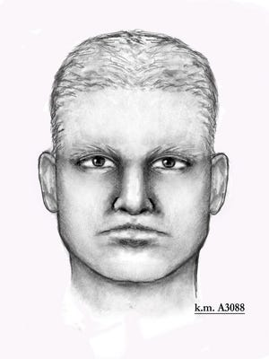 A sketch of the man that harmed Jack and his wife, Patricia, at their Phoenix home on Jan. 14.