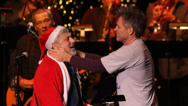 Jon Bon Jovi performs with Bobby Bandiera during last year's Hope Concert at Count Basie Theatre in Red Bank.
