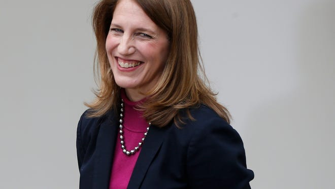 Sylvia Mathews Burwell, Office of Manage ment and Budget director, is the president's nominee to replace Health and Human Services Secretary Kathleen Sebelius.