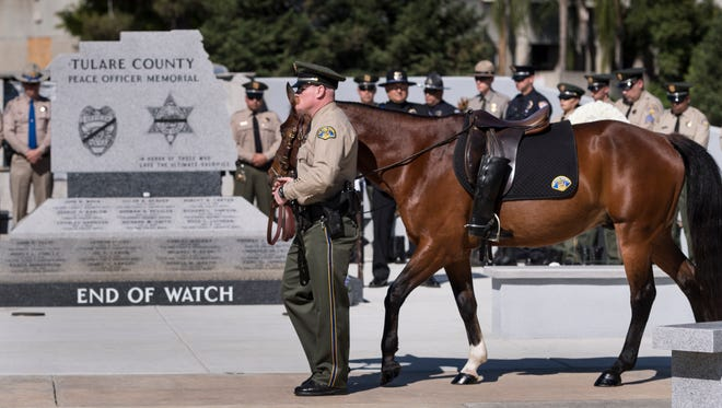 Tulare County Peace Officer Memorial Ceremony on Wednesday, May 9, 2018.