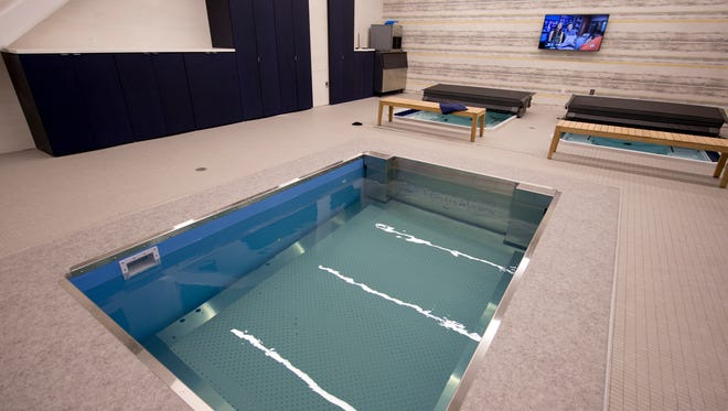 A hydrotherapy room inside the new St. Vincent Center, which houses sports-centered medical facilities, and training facilities for Pacers Sports and Entertainment, Indianapolis, Thursday, August 24, 2017.