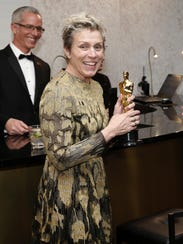 Frances McDormand, winner of the award for best performance