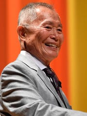 Star Trek actor, social media personality and LGBT activist 79 year-old George Takei gives a lecture at the Victory Theatre as part of the Evansville Diversity Lecture Series Tuesday, September 27, 2016.