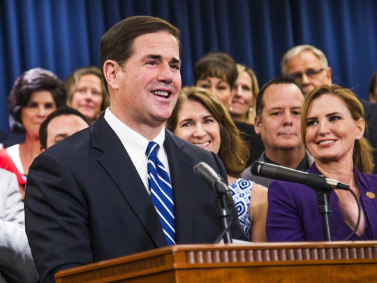 """I think we've seen what Tom Steyer has had to say,"" Ducey told reporters."