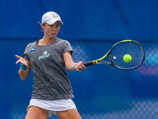 There are great expectations for FGCU freshman Sara Kelly, a Naples native who is battling for the top spot.
