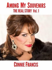 Cover of Connie Francis's upcoming autobiography, Among my Souvenirs The Real Story, Volume 1