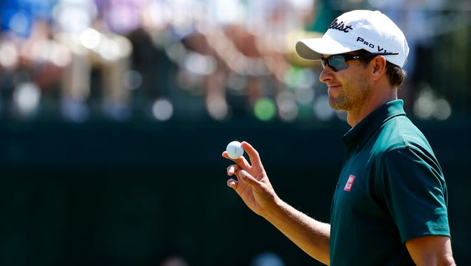 Adam Scott is trying to become the fourth person to win back-to-back Master titles.